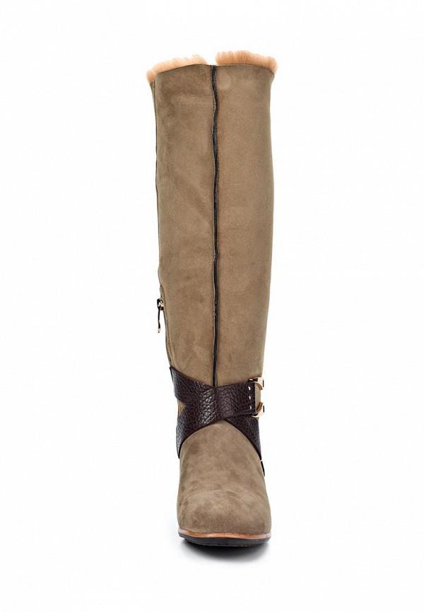 фото Сапоги женские на низком каблуке Vitacci VI060AWIT109, бежевые