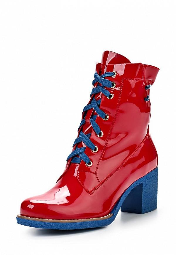фото Женские полусапоги на шнуровке Vivian Royal VI809AWAXV61, красные/каблук