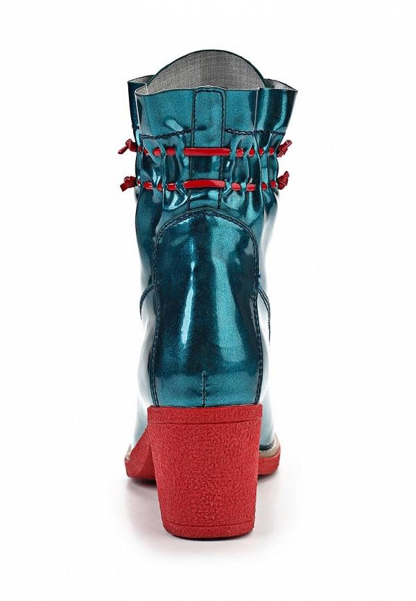 фото Полусапожки на каблуке Vivian Royal VI809AWAXV62, бирюзовые на шнуровке