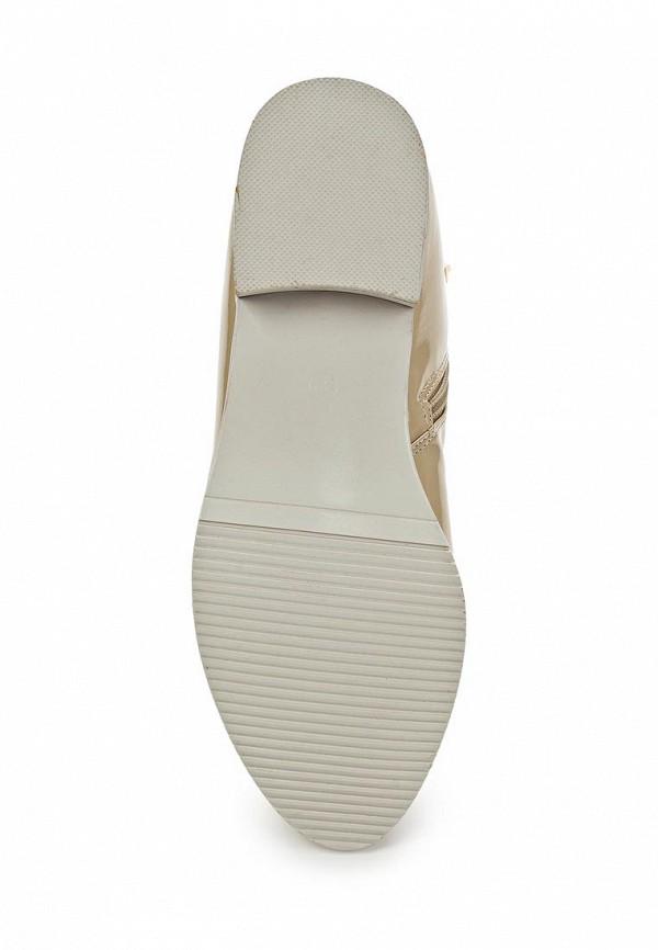 фото Женские полусапожки на каблуке Vivian Royal VI809AWBJW00, бежевые лаковые