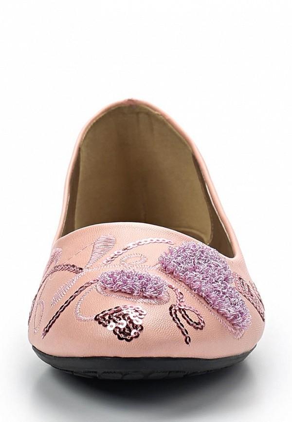 фото Балетки женские Vivian Royal VI809AWBJW13, розовые (иск. кожа)