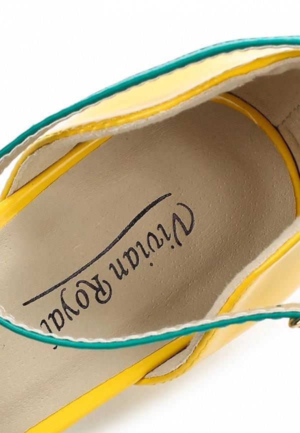 фото Туфли на низком каблуке Vivian Royal VI809AWBJW88, желто-зеленые