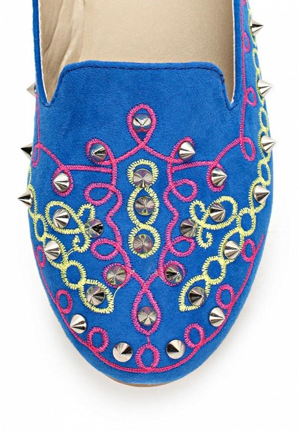 фото Лоферы женские Vivian Royal VI809AWBJW94, голубые/цветные