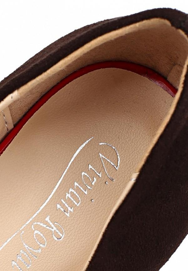 фото Туфли на платформе и шпильке Vivian Royal VI809AWCOA59, красно-коричневые