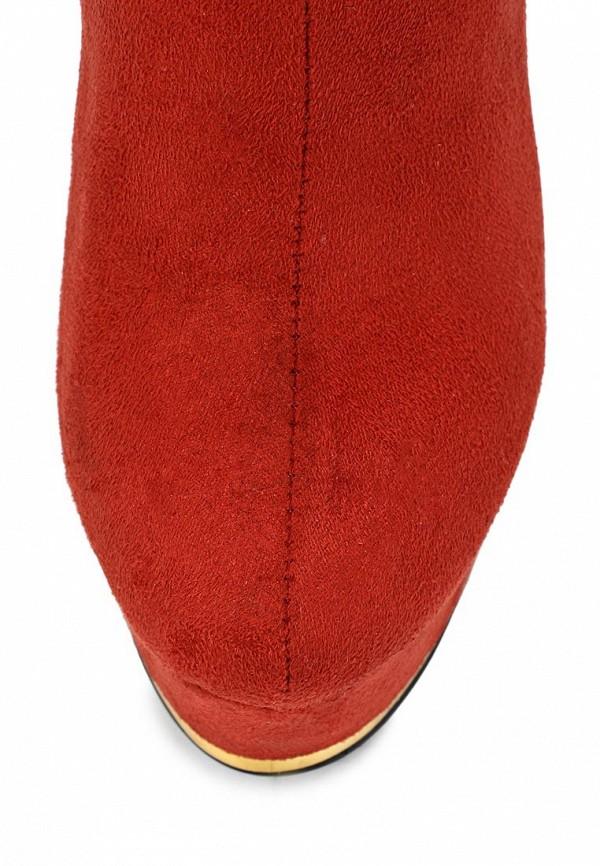 фото Полусапожки на высоком каблуке и платформе Vivian Royal VI809AWCOA63, оранжевые