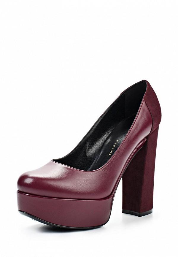 фото Туфли на платформе и толстом каблуке Vicini Tapeet VI993AWLF423, бордовые