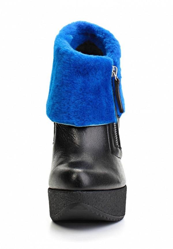 фото Ботильоны на платформе Vicini Tapeet VI993AWLF430, черные/синие