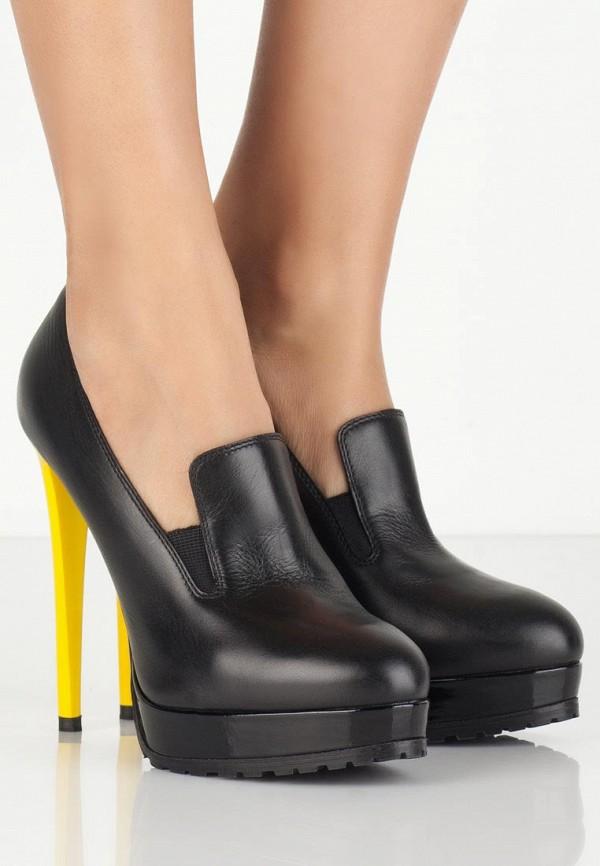 фото Туфли-лоферы на высоком каблуке Vicini VI994AWLF381, черные