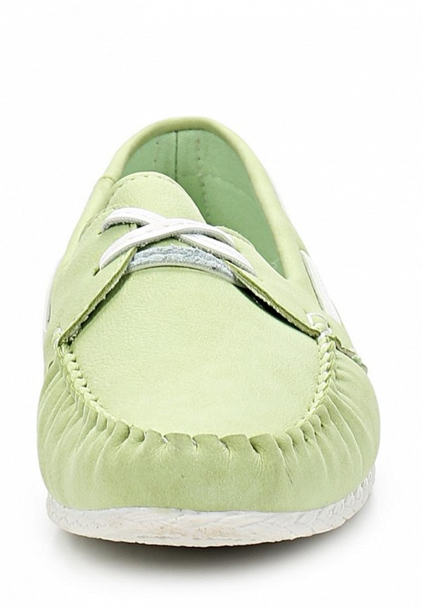 фото Мокасины женские Wilmar WI064AWAPV35, зеленые на шнурках