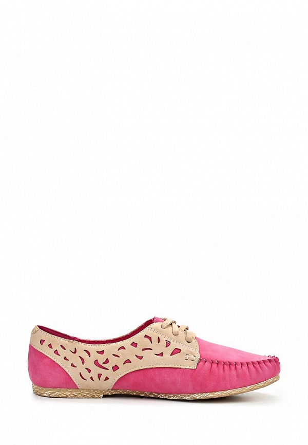 фото Мокасины женские Wilmar WI064AWAPV49, бежево-розовые на шнурках