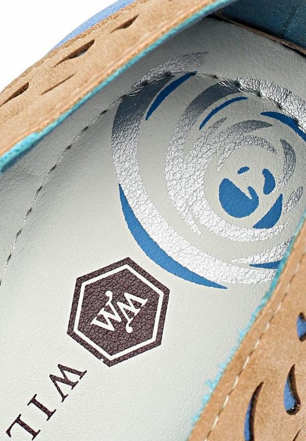 фото Мокасины женские Wilmar WI064AWAPV51, бежево-синие