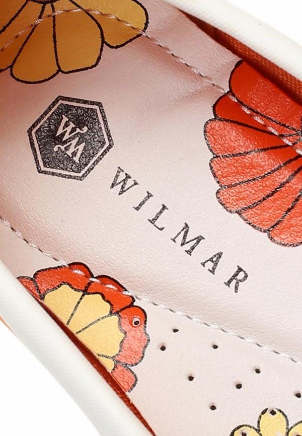 фото Мокасины женские Wilmar WI064AWAPW08, белые/оранжевые