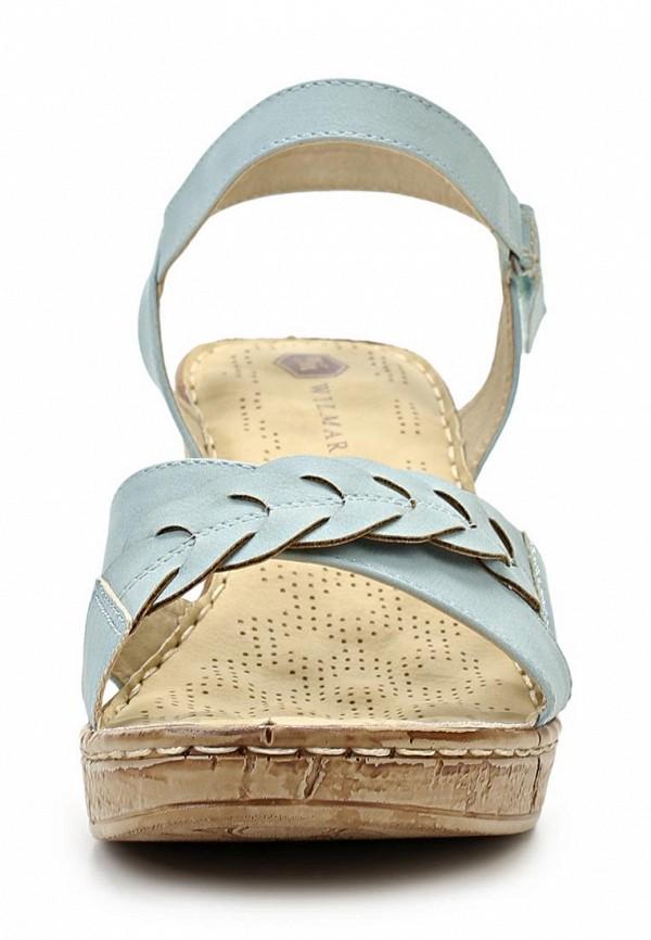 фото Босоножки на каблуке Wilmar WI064AWAPW91, голубые