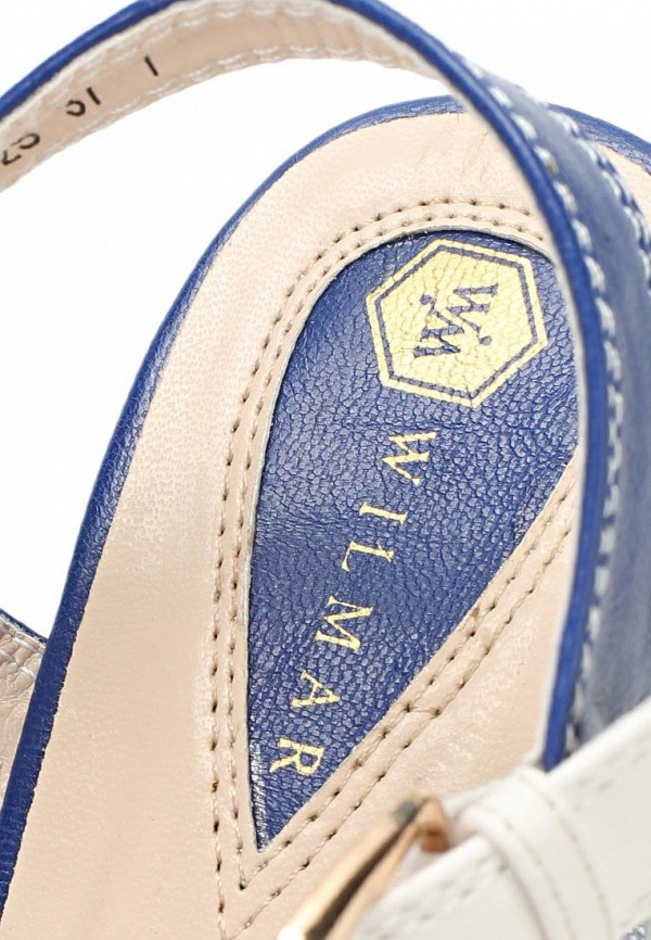 фото Босоножки на толстом каблуке Wilmar WI064AWAPY71, белые/синие