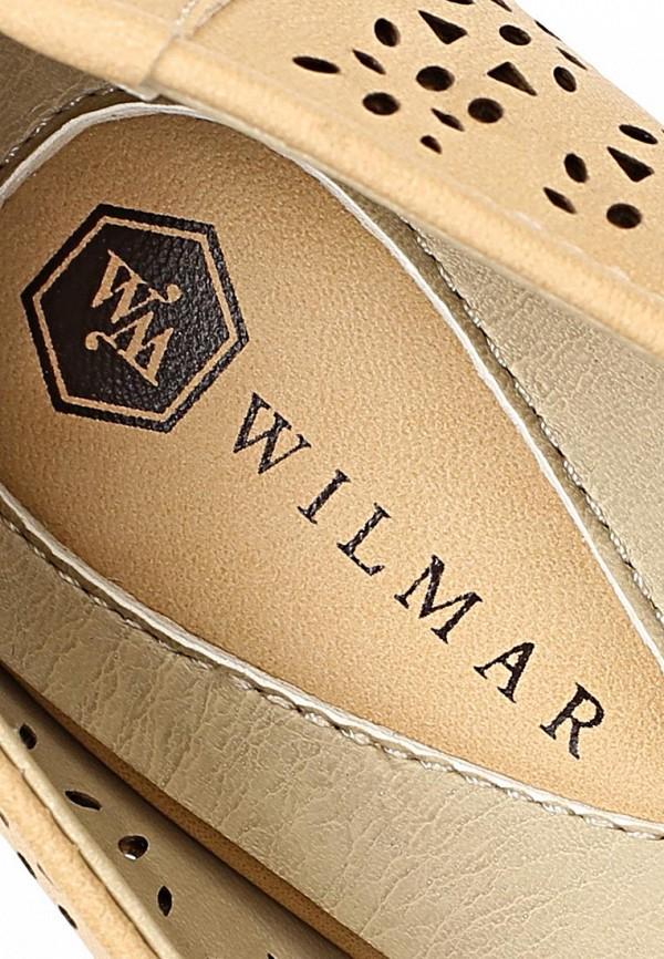 фото Туфли на танкетке Wilmar WI064AWAPZ41, бежевые с открытым носом
