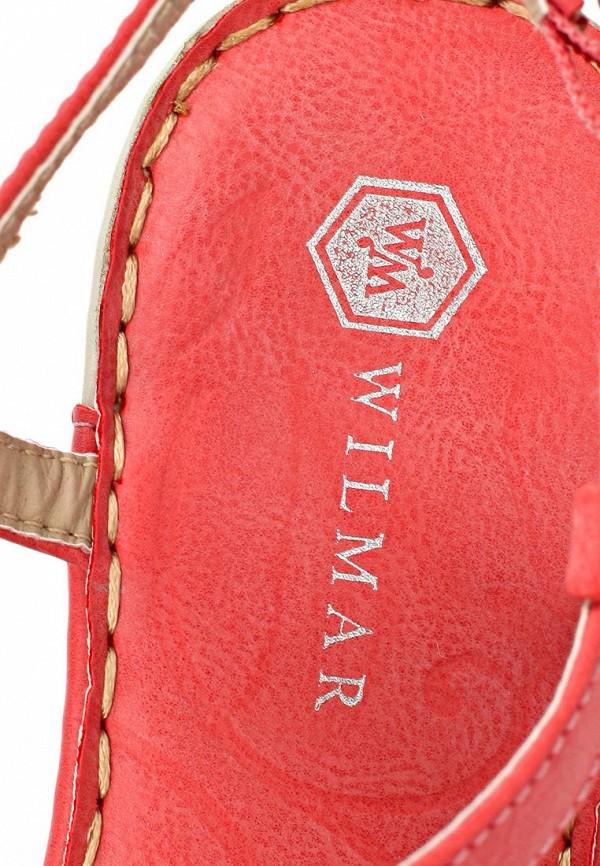 фото Босоножки на каблуке Wilmar WI064AWAPZ56, бежево-коралловые