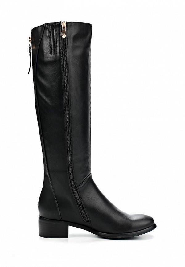 фото Сапоги женские на каблуке Wilmar WI064AWCCS27, черные кожаные