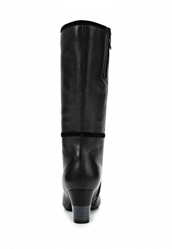 фото Сапоги женские на каблуке Wilmar WI064AWCMI69, черные кожаные