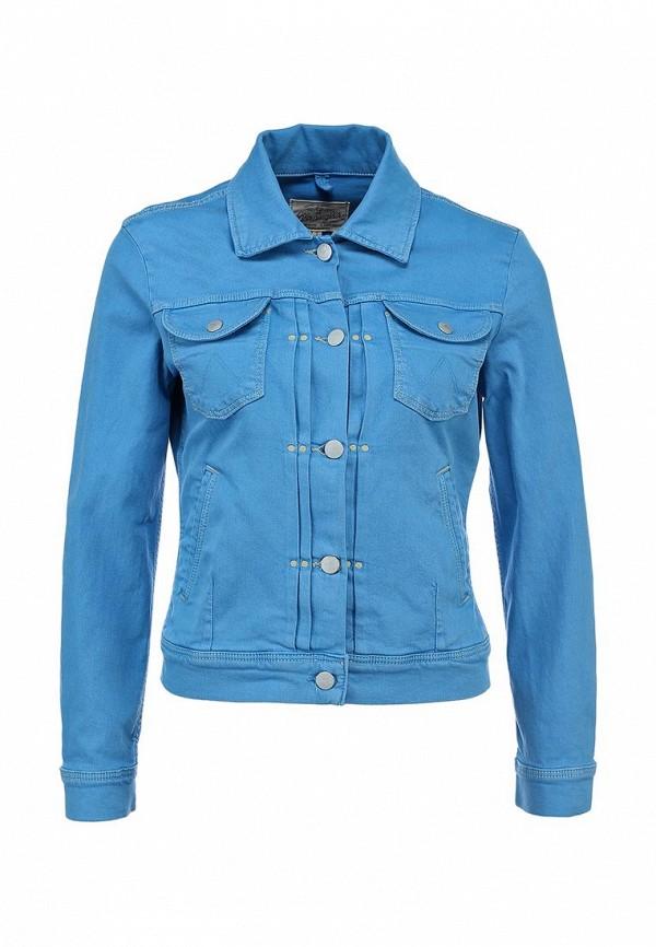 Куртка джинсовая Wrangler WR224EWANQ60. Цвет: голубой
