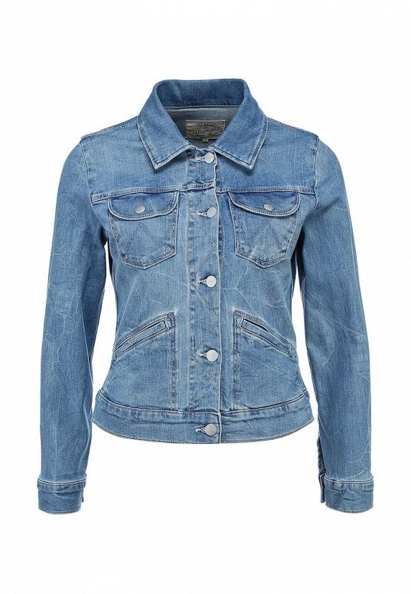 Куртка джинсовая Wrangler WR224EWANQ61. Цвет: синий