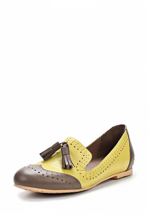 фото Лоаферы женские Yaro YA805AWAQJ01, желтые/коричневые