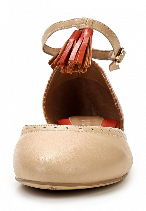фото Туфли женские без каблука Yaro YA805AWAQJ41, бежевые кожаные
