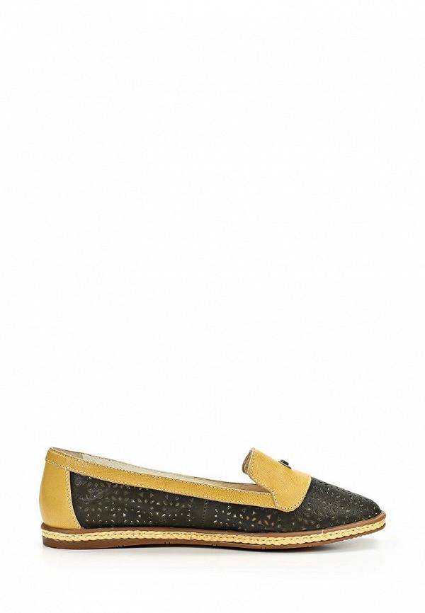 фото Лоферы женские Yaro YA805AWAQL04, черные с желтым