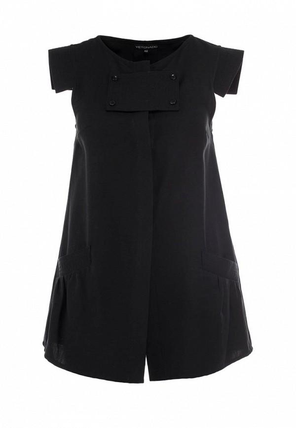 Блуза Yetonado. Цвет: черный