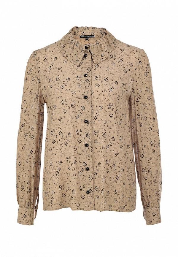 Блуза Yetonado. Цвет: бежевый