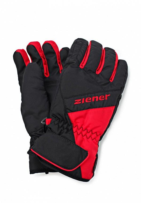 Перчатки горнолыжные Ziener ZI003DMJU174. Цвет: черный