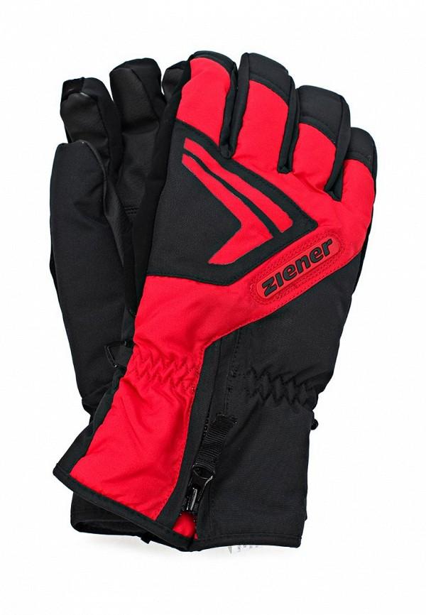 Перчатки горнолыжные Ziener ZI003DMJU180. Цвет: черный
