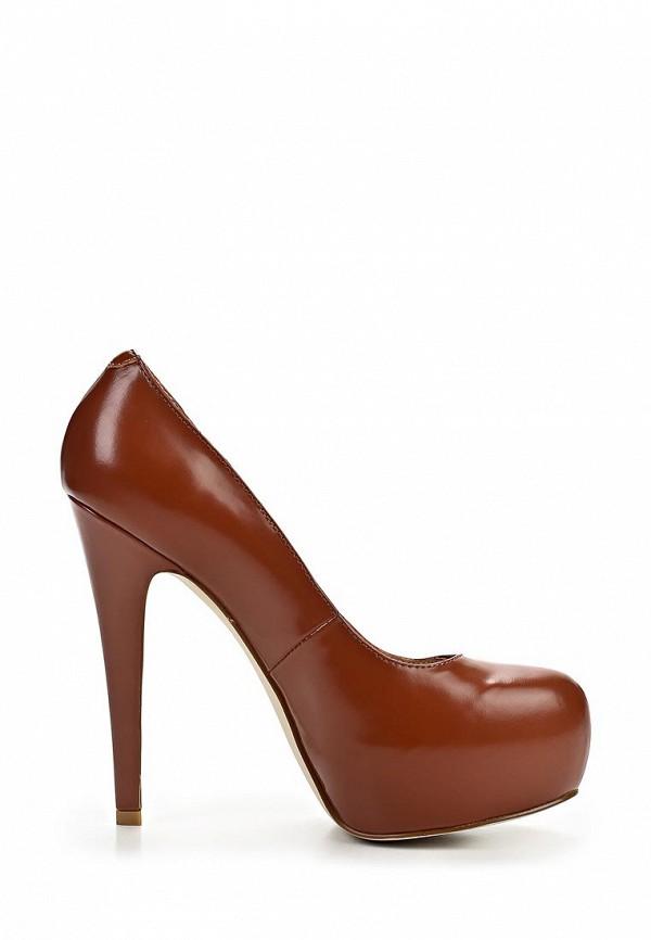 фото Туфли на платформе и высоком каблуке Zumita ZU001AWBON78, коричневые