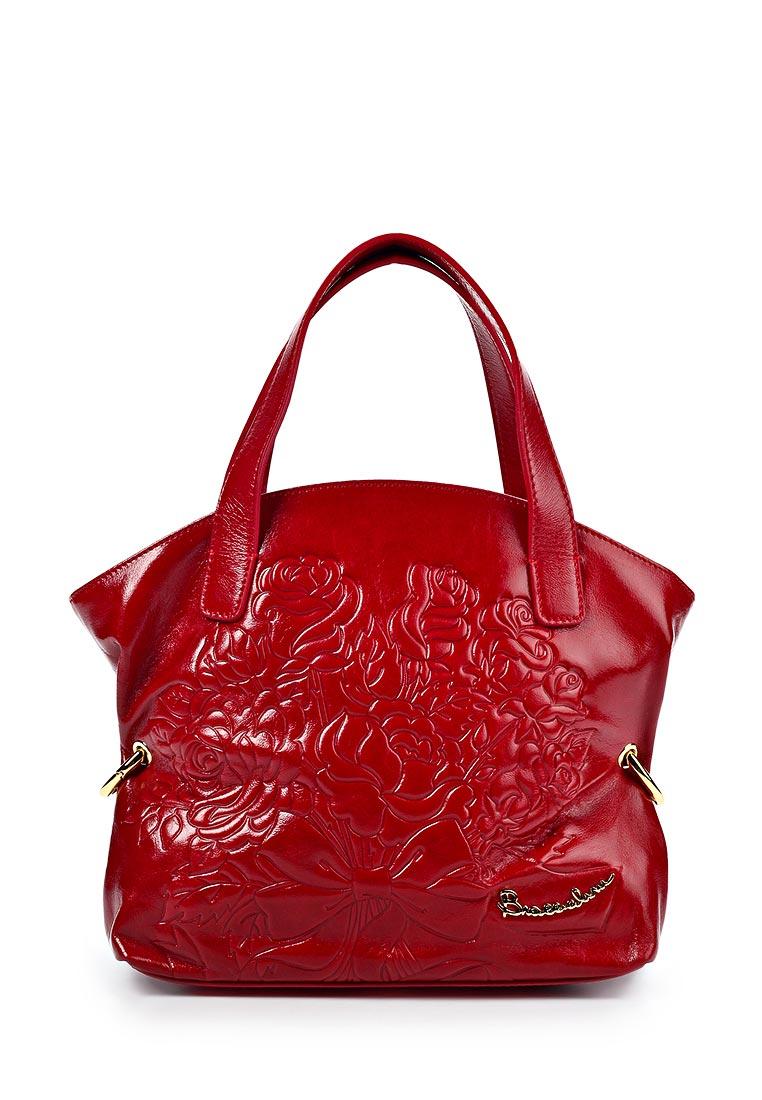 Модель: Яркая кожаная сумка Palio с цветочным принтом.