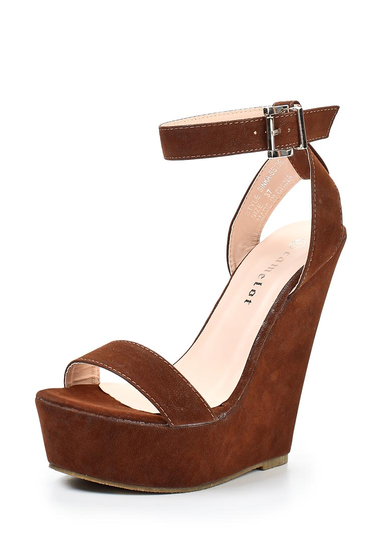 Купить Босоножки на платформе Camelot, коричневые по цене 990 ... 987e0a800f3