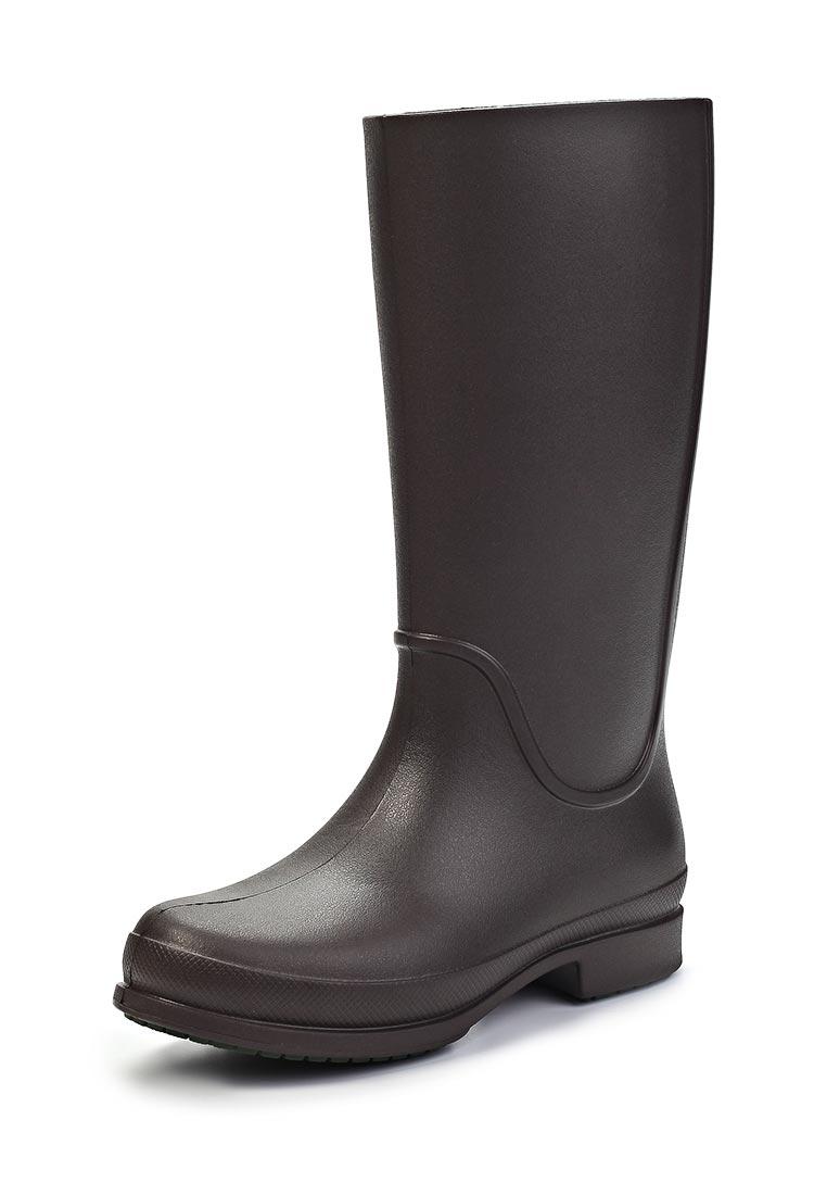 Резиновые сапоги Crocs / Крокс женские.  Цвет: коричневый.