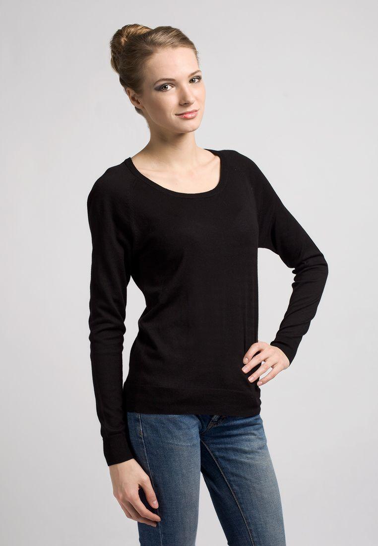 Черный Женский Пуловер