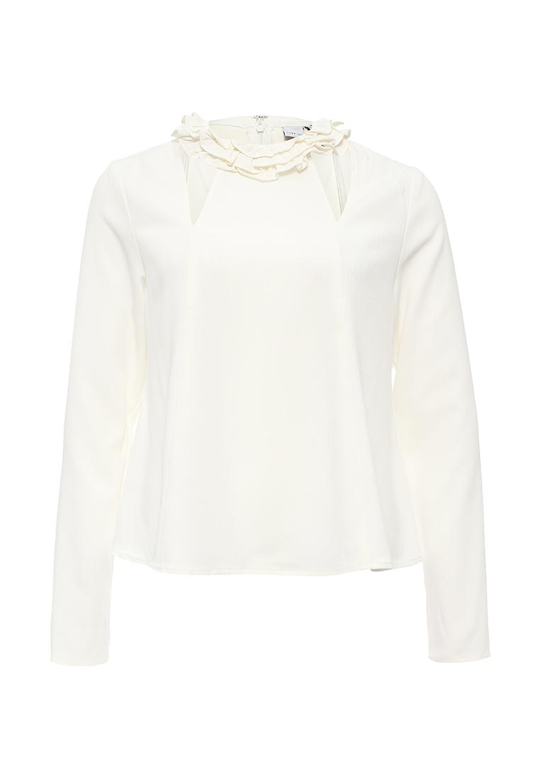 LOST INK FRILL NECK TOP WITH CUT OUT