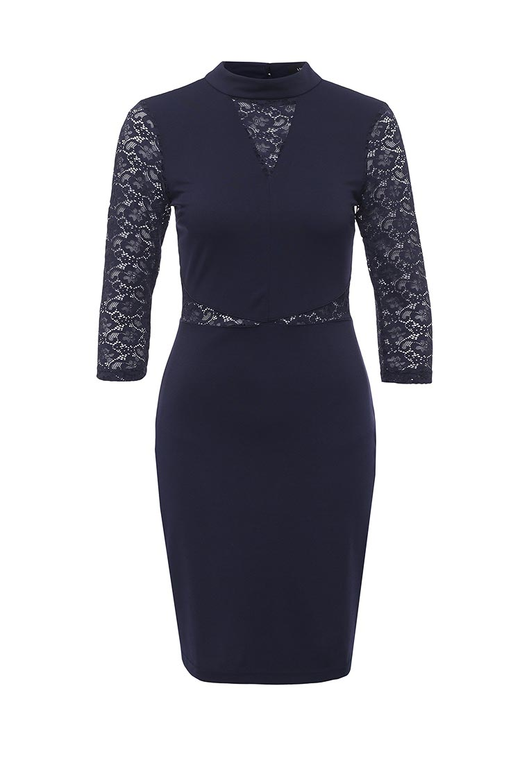 LOST INK WAIF PONTI AND LACE BODYCON