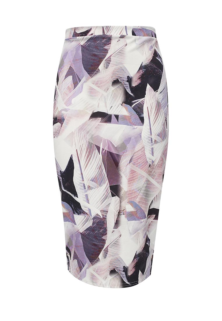 LOST INK PLUS PENCIL SKIRT IN PALM PRINT