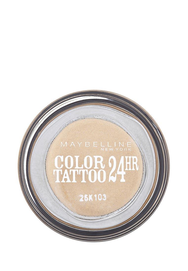 Maybelline New York для век Color Tattoo 24 часа оттенок 05 Вечное золото 4 мл maybelline new york для век color tattoo 24 часа оттенок 60 бессменный черный 4 мл