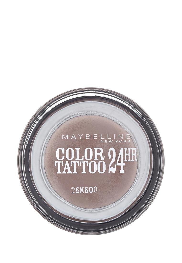 Maybelline New York для век Color Tattoo 24 часа оттенок 40 Долговечный коричневый 4 мл maybelline new york тени для век color tattoo 24 часа оттенок 45 бесконечно белый 4 мл
