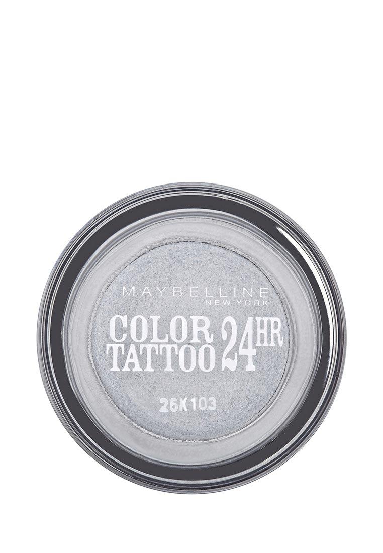 Maybelline New York для век Color Tattoo 24 часа оттенок 50 Неизменное серебро 4 мл maybelline new york тени для век color tattoo 24 часа оттенок 87 загадочный сиреневый 4 мл