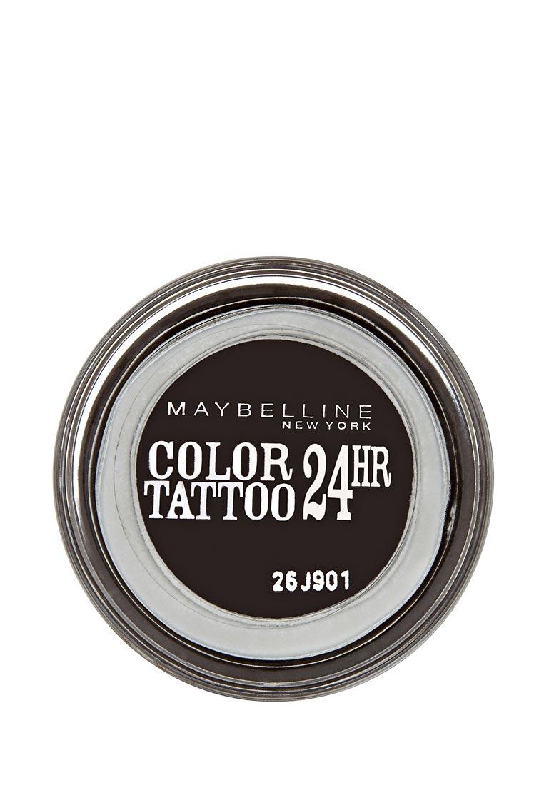 Maybelline New York для век Color Tattoo 24 часа оттенок 60 Бессменный черный 4 мл maybelline new york тени для век color tattoo 24 часа оттенок 87 загадочный сиреневый 4 мл
