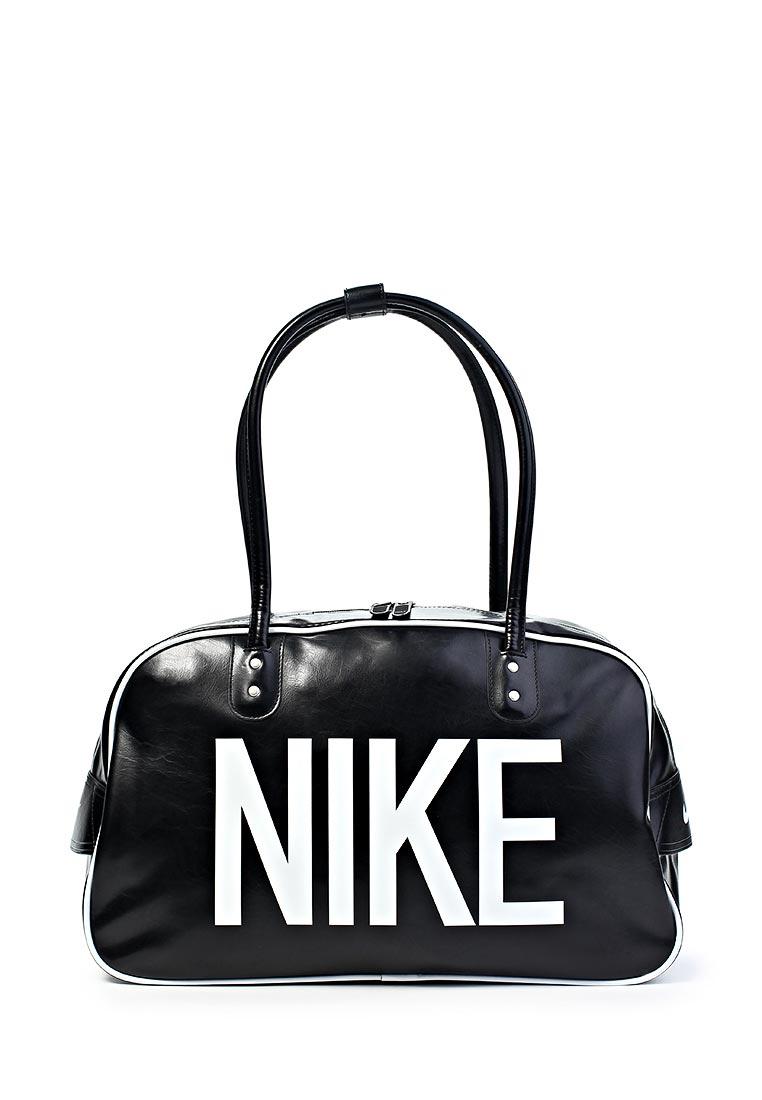 Сумка спортивная Nike / Найк женская.  Цвет: черный.  Материал: полиуретан.