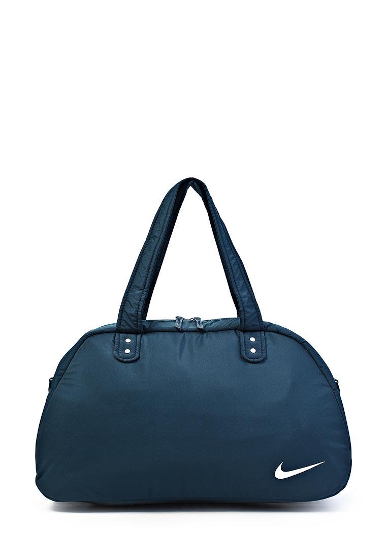 Сумка спортивная Nike/Найк женская.  Цвет: синий.  Материал: полиэстер.