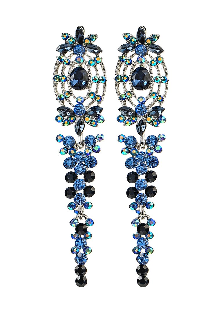 Taya T-B-11273-EARR-SL.D.BLUE серьги taya цвет серебристый t b 4827