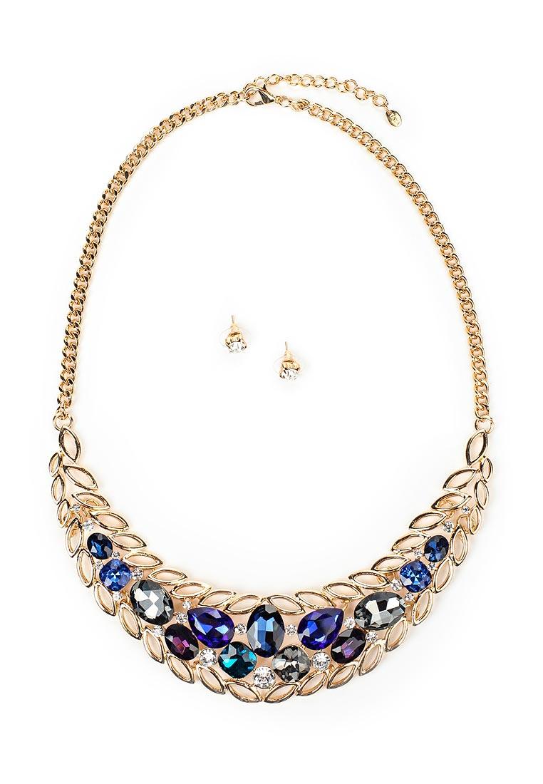 Taya T-B-12534-SET-GL.D.BLUE серьги taya цвет серебристый t b 4827