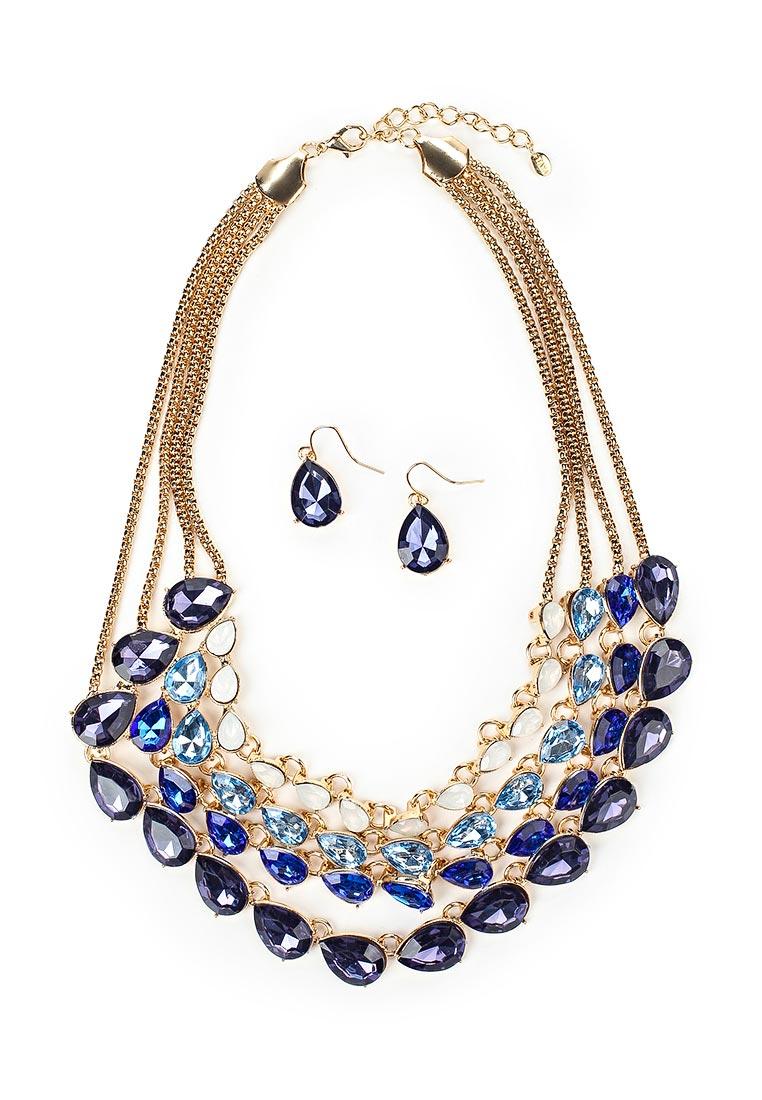 Taya T-B-12537-SET-GL.D.BLUE серьги taya цвет серебристый t b 4827