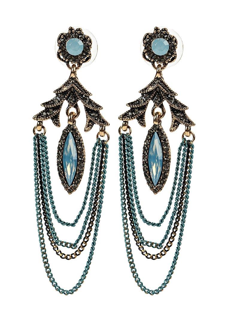 Taya T-B-12937-EARR-GL.L.BLUE серьги taya цвет серебристый t b 4827